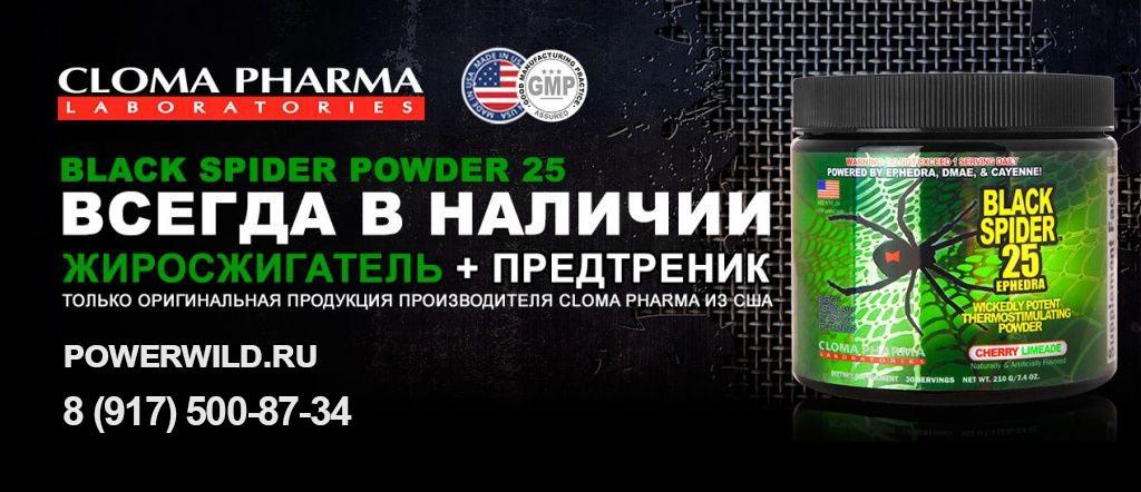 Black spider 25 Ephedra Cloma Pharma – купить жиросжигатель