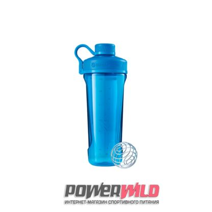 на фото голубой Radian Tritan (946 мл) (Blender Bottle)