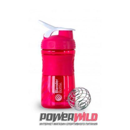на фото розовый SportMixer (591 мл) (Blender Bottle)