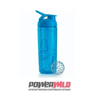 на фото голубой SportMixer Sleek (828 мл) (Blender Bottle)