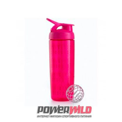 на фото красный SportMixer Sleek (828 мл) (Blender Bottle)