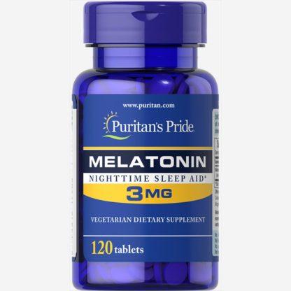 Melatonin - Puritan's Pride 120 таблеток по 3 мг – продажа с доставкой