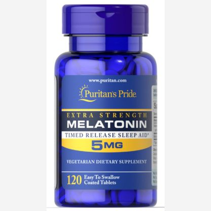 Melatonin - Puritan's Pride 120 таблеток по 5 мг - продажа и доставка