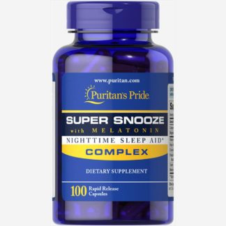 Super Snooze Complex with Melatonin - Puritan's Pride, 100 капсул продажа