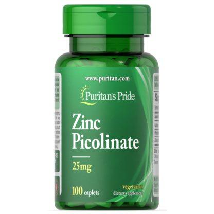 Zinc Picolinate - Puritan's Pride, 100 таблеток, 25 мг доставка