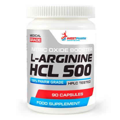 L-Arginine HCL 500 WestPharm 90капсул по 500 мг купить