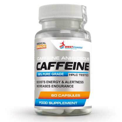 Caffeine WestPharm 60 капсул по 100 мг купить