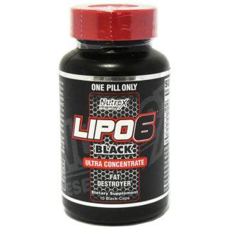 LIPO 6 Black Ultra Concentrate Nutrex 10 капсул жиросжигатель купить
