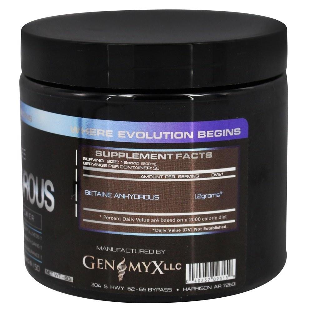 Betaine Anhydrous Genomyx 60 гр, 50 порций витамины для спорта читать что в составе