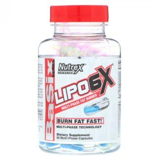 LIPO 6X Nutrex 60 капсул – жиросжигатель-термогеник купить