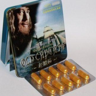 Оригинальные таблетки Old Captain Старый капитан 10 капсул средство для потенции купить