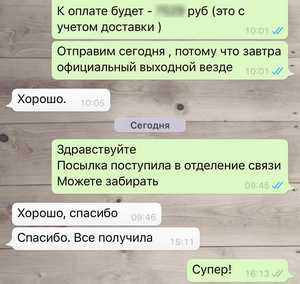 Смотреть скриншот отзыва покупателя о почтовой доставке спортивного питания из интернет-магазина PowerWild.ru