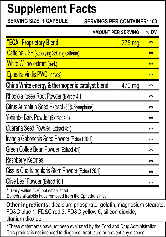 Читаь состав на упаковке China White 25