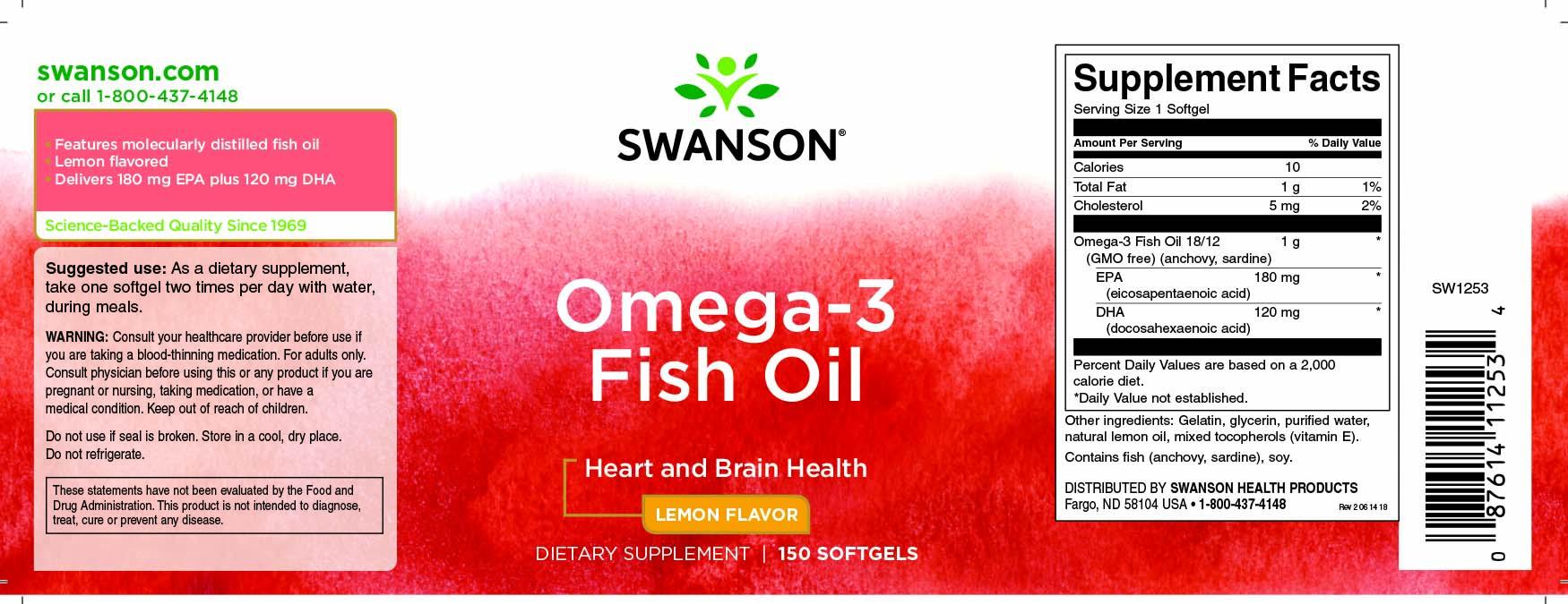 Купить дешево Omega-3 Fish Oil Swanson