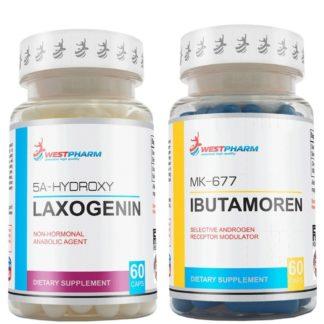 Курс на мышечную массу Laxogenin + Ibutamoren Westpharm купить дешево