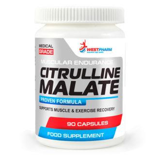 Citrulline Malate WestPharm 90 капсул по 500 мг купить предтреник недорого