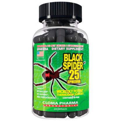 Купить дешево Black Spider Cloma Pharma 100 капсул жиросжигатель