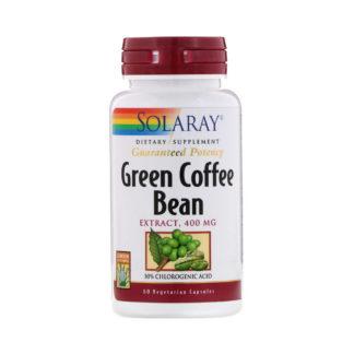 Coffee Bean Extract фирмы Solaray Green 400 мг 60 капс. цена